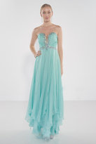 Alyce Paris - Strapless Sweetheart Beaded and Ruched Long Dress 1022