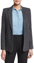 Vince Wool-Blend Two-Button Blazer, Charcoal
