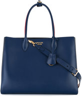 Prada striped detail tote - women - Calf Leather - One Size