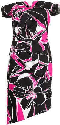 Milly Ally floral print midi dress