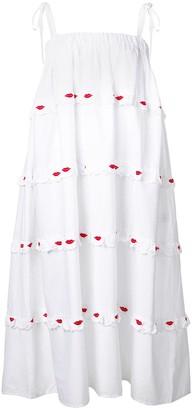VIVETTA Embroidered Lips Dress