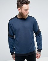 HUGO BOSS HUGO by Dunion Sweat Contrast Panels in Navy/Black