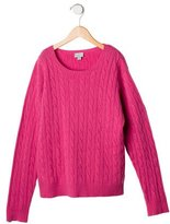 Papo d'Anjo Girls' Cable Knit Cashmere Sweater