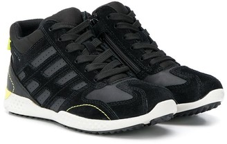 Geox Kids contrast stitching ssneakers