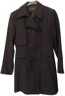 Donna Karan Black Wool Coat for Women