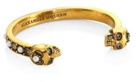 Alexander McQueen Pearl& Clear Crystal Bracelet
