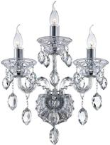 Eurofase Venetian Collection 3-Light Clear Wall Sconce