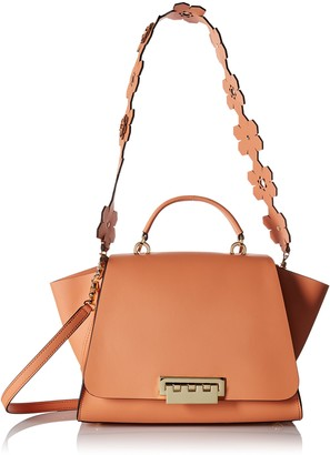 Zac Posen Eartha Iconic Soft Top Handle Hex Floral Strap Coral
