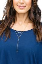 Gorjana Mika Layered Charm Y-Drop Necklace