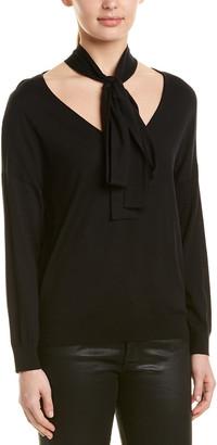 RED Valentino Tie-Neck Wool, Silk, & Cashmere-Blend Sweater