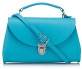 The Cambridge Satchel Company Women's Mini Poppy Bag Neon Blue Saffiano