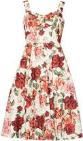 Izabel London Floral Print Prom Dress