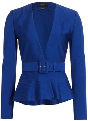 St. John Engineered Milano Knit Peplum Jacket