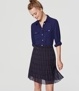 LOFT Petite Plaid Pleated Skirt