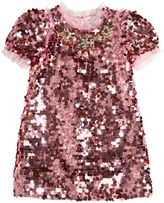 Dolce & Gabbana Sequined Tulle Dress With Swarovski