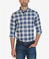 Nautica Classic-Fit Wrinkle-Resistant Whitecap Plaid Shirt