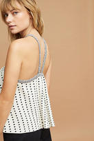 Anthropologie Dotted Jacquard Halter Top