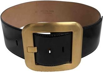 Michael Kors Black Leather Belts