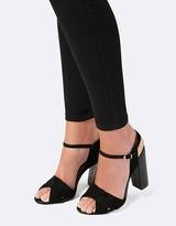 Forever New Diva Pleated Vamp Block Heels