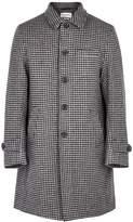Oliver Spencer Taupe Houndstooth Wool Coat