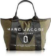 Marc Jacobs New Logo Army Green Cotton Tote