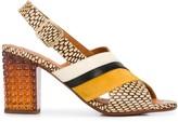 Chie Mihara cross strap slingback heels