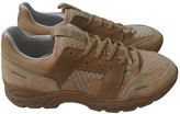 Ami Beige Leather Trainers