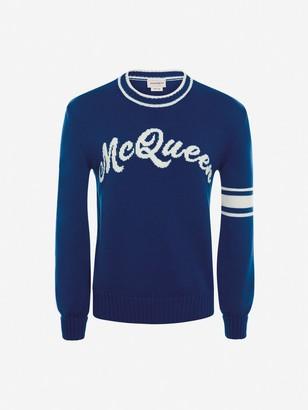 Alexander McQueen McQueen Intarsia Crew-Neck Sweater