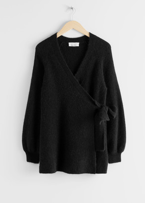 And other stories Wool Blend Long Wrap Cardigan