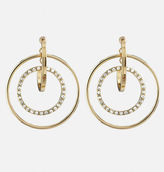 Avenue Stone Hoop Earrings