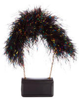 Christian Louboutin Artemis Ostrich Feather Shoulder Bag w/ Tags