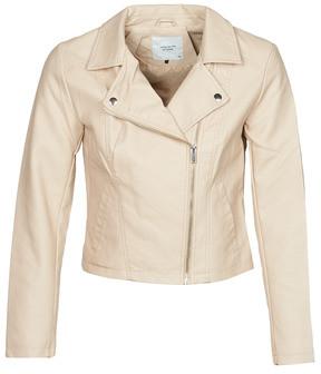 JDY JDYSIMBA women's Leather jacket in Beige