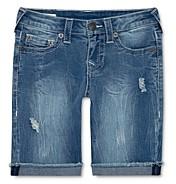 True Religion Boys' Geno Ripped Denim Shorts - Little Kid, Big Kid