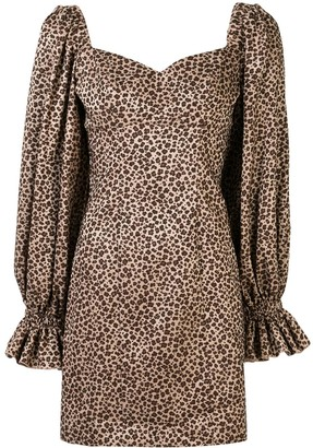 Karen Walker Embers leopard-print dress