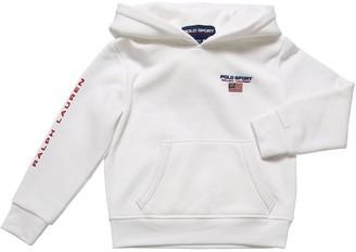 Ralph Lauren Logo Print Cotton Sweatshirt Hoodie