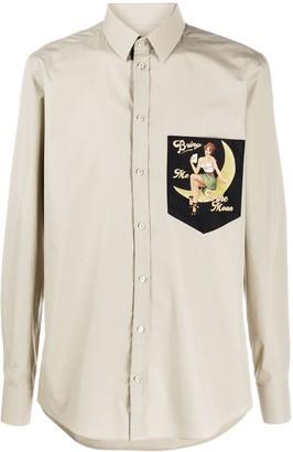 Dolce & Gabbana Bring me to the Moon print shirt
