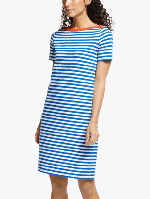 Boden Georgia Stripe Jersey Dress, Blue