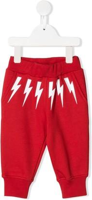 Neil Barrett Kids lightning print track pants