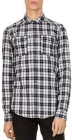 The Kooples Turtle Mix Slim Fit Button-Down Shirt
