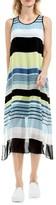 Vince Camuto Petite Women's Stripe Harmony A-Line Dress