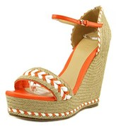 Gucci 370496 Open Toe Synthetic Wedge Sandal.