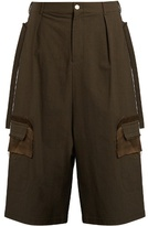 Damir Doma Pell Oversized Textured Cotton-blend Shorts