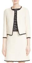 Kate Spade Women's Scallop Edge Tweed Jacket