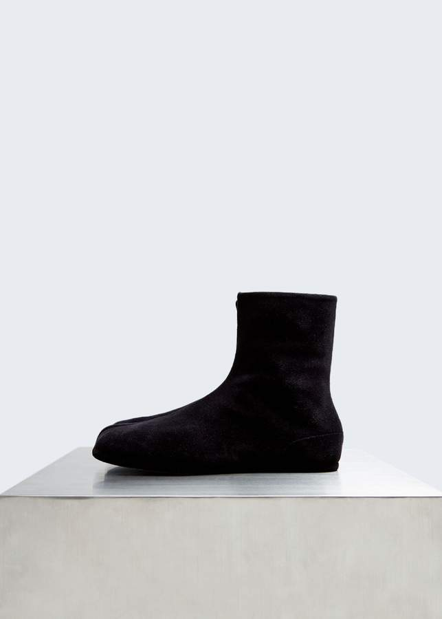 Maison Margiela Flocked Flat Tabi Boot