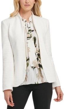 DKNY Zippered Ring-Pull Blazer