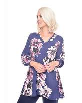 Grace Floral tunic with cuff