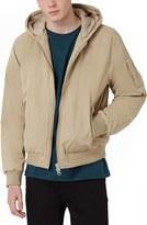Topman Men's Hooded Bomber Jacket