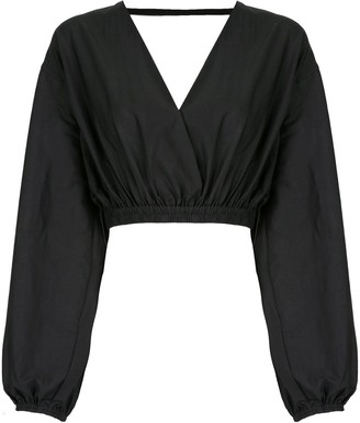 Matteau Open Back cropped blouse