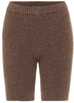 Nanushka Siu ribbed-knit biker shorts