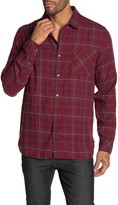 Astronomy Fields Plaid Print Slim Fit Flannel Shirt